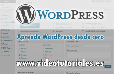 tutoriales para aprender como crear páginas web con wordpress